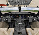 Private Jet Photo Bombardier Global 5000 cockpit